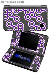 Locknodes 02 Purple - Decal Style Skin fits Nintendo DSi XL (DSi SOLD SEPARATELY)