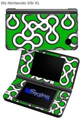 Locknodes 03 Green - Decal Style Skin fits Nintendo DSi XL (DSi SOLD SEPARATELY)