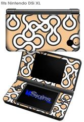 Locknodes 03 Peach - Decal Style Skin fits Nintendo DSi XL (DSi SOLD SEPARATELY)