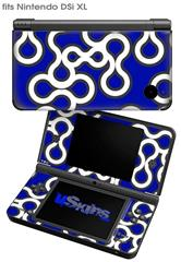 Locknodes 03 Royal Blue - Decal Style Skin fits Nintendo DSi XL (DSi SOLD SEPARATELY)