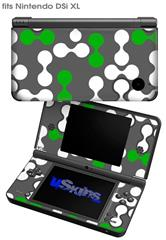 Locknodes 04 Green - Decal Style Skin fits Nintendo DSi XL (DSi SOLD SEPARATELY)