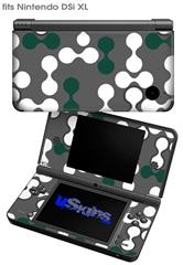 Locknodes 04 Hunter Green - Decal Style Skin fits Nintendo DSi XL (DSi SOLD SEPARATELY)
