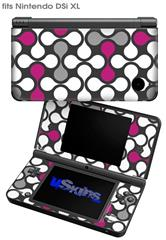 Locknodes 05 Hot Pink (Fuchsia) - Decal Style Skin fits Nintendo DSi XL (DSi SOLD SEPARATELY)