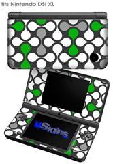 Locknodes 05 Green - Decal Style Skin fits Nintendo DSi XL (DSi SOLD SEPARATELY)
