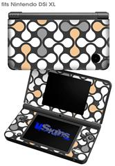 Locknodes 05 Peach - Decal Style Skin fits Nintendo DSi XL (DSi SOLD SEPARATELY)
