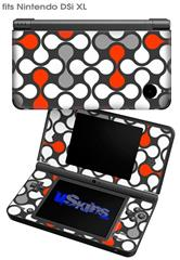 Locknodes 05 Red - Decal Style Skin fits Nintendo DSi XL (DSi SOLD SEPARATELY)