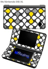 Locknodes 05 Yellow - Decal Style Skin fits Nintendo DSi XL (DSi SOLD SEPARATELY)