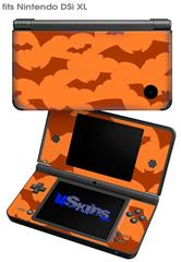 Deathrock Bats Orange - Decal Style Skin fits Nintendo DSi XL (DSi SOLD SEPARATELY)