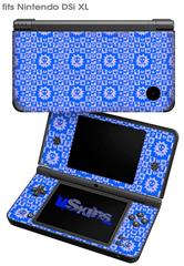 Gothic Punk Pattern Blue - Decal Style Skin fits Nintendo DSi XL (DSi SOLD SEPARATELY)