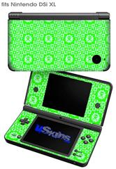 Gothic Punk Pattern Green - Decal Style Skin fits Nintendo DSi XL (DSi SOLD SEPARATELY)