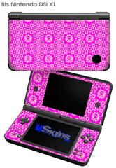 Gothic Punk Pattern Pink - Decal Style Skin fits Nintendo DSi XL (DSi SOLD SEPARATELY)