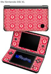 Gothic Punk Pattern Red - Decal Style Skin fits Nintendo DSi XL (DSi SOLD SEPARATELY)