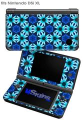 Daisies Blue - Decal Style Skin fits Nintendo DSi XL (DSi SOLD SEPARATELY)
