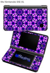 Daisies Purple - Decal Style Skin fits Nintendo DSi XL (DSi SOLD SEPARATELY)