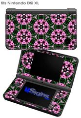 Floral Pattern Pink - Decal Style Skin fits Nintendo DSi XL (DSi SOLD SEPARATELY)