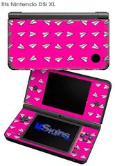 Paper Planes Hot Pink - Decal Style Skin fits Nintendo DSi XL (DSi SOLD SEPARATELY)