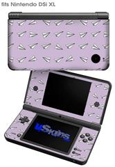 Paper Planes Lavender - Decal Style Skin fits Nintendo DSi XL (DSi SOLD SEPARATELY)
