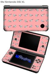 Paper Planes Pink - Decal Style Skin fits Nintendo DSi XL (DSi SOLD SEPARATELY)