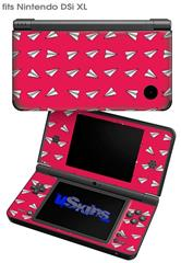 Paper Planes Rasberry - Decal Style Skin fits Nintendo DSi XL (DSi SOLD SEPARATELY)