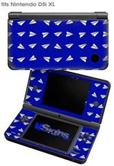 Paper Planes Royal Blue - Decal Style Skin fits Nintendo DSi XL (DSi SOLD SEPARATELY)