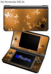 Bokeh Butterflies Orange - Decal Style Skin fits Nintendo DSi XL (DSi SOLD SEPARATELY)