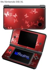 Bokeh Butterflies Red - Decal Style Skin fits Nintendo DSi XL (DSi SOLD SEPARATELY)