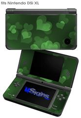 Bokeh Hearts Green - Decal Style Skin fits Nintendo DSi XL (DSi SOLD SEPARATELY)