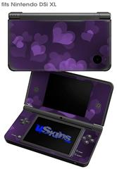 Bokeh Hearts Purple - Decal Style Skin fits Nintendo DSi XL (DSi SOLD SEPARATELY)