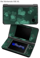Bokeh Hearts Seafoam Green - Decal Style Skin fits Nintendo DSi XL (DSi SOLD SEPARATELY)