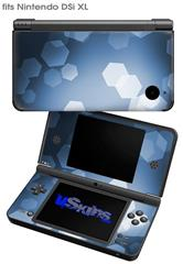 Bokeh Hex Blue - Decal Style Skin fits Nintendo DSi XL (DSi SOLD SEPARATELY)