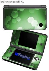 Bokeh Hex Green - Decal Style Skin fits Nintendo DSi XL (DSi SOLD SEPARATELY)