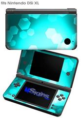 Bokeh Hex Neon Teal - Decal Style Skin fits Nintendo DSi XL (DSi SOLD SEPARATELY)