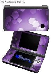 Bokeh Hex Purple - Decal Style Skin fits Nintendo DSi XL (DSi SOLD SEPARATELY)