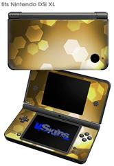 Bokeh Hex Yellow - Decal Style Skin fits Nintendo DSi XL (DSi SOLD SEPARATELY)