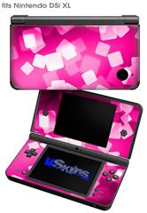Bokeh Squared Hot Pink - Decal Style Skin fits Nintendo DSi XL (DSi SOLD SEPARATELY)