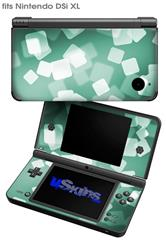 Bokeh Squared Seafoam Green - Decal Style Skin fits Nintendo DSi XL (DSi SOLD SEPARATELY)