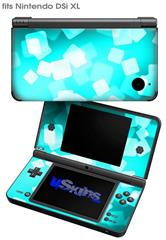 Bokeh Squared Neon Teal - Decal Style Skin fits Nintendo DSi XL (DSi SOLD SEPARATELY)