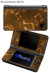 Bokeh Music Orange - Decal Style Skin fits Nintendo DSi XL (DSi SOLD SEPARATELY)