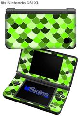Scales Green - Decal Style Skin fits Nintendo DSi XL (DSi SOLD SEPARATELY)