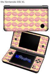 Donuts Yellow - Decal Style Skin fits Nintendo DSi XL (DSi SOLD SEPARATELY)