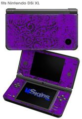 Folder Doodles Purple - Decal Style Skin fits Nintendo DSi XL (DSi SOLD SEPARATELY)