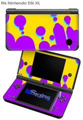 Drip Purple Yellow Teal - Decal Style Skin fits Nintendo DSi XL (DSi SOLD SEPARATELY)