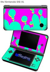 Drip Teal Pink Yellow - Decal Style Skin fits Nintendo DSi XL (DSi SOLD SEPARATELY)
