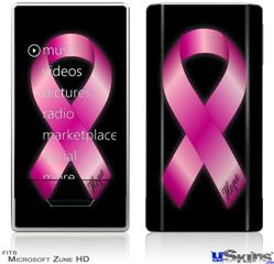 Zune HD Skin - Hope Breast Cancer Pink Ribbon on Black