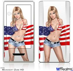 Zune HD Skin - Independent Woman Pin Up Girl