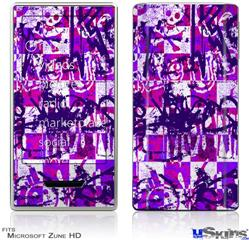 Zune HD Skin - Purple Checker Graffiti