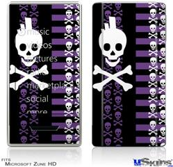 Zune HD Skin - Skulls and Stripes 6