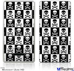 Zune HD Skin - Skull Checkerboard