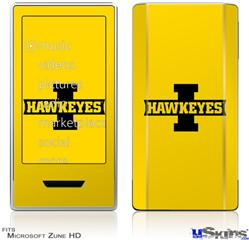 Zune HD Skin - Iowa Hawkeyes 02 Black on Gold