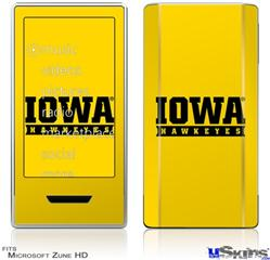Zune HD Skin - Iowa Hawkeyes 03 Gold on Black